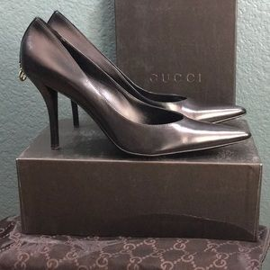 Gucci Scar Pelle S Cuoio Pointed Closed Toe Heels